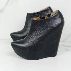Jeffery Campbell Zoe Black Platform Booties Boots